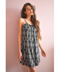 Промо комплект от 2 части, рокля Хризантема + кърпа за коса по избор