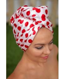 Кърпа за коса Червени точки