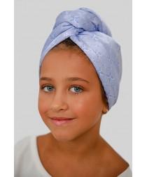 Кърпа за коса Сини цветя МИНИ