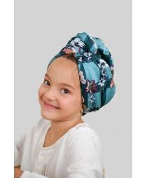 Кърпа за коса Цветя каре МИНИ