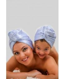 Кърпа за коса Комплект Сини цветя